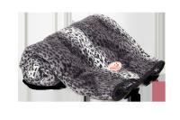 Kuscheldecke Schneeleopard